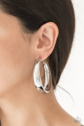 Gypsy Goals-silver-Paparazzi earrings