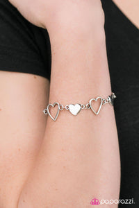 HEART To Handle - Silver - Paparazzi bracelet