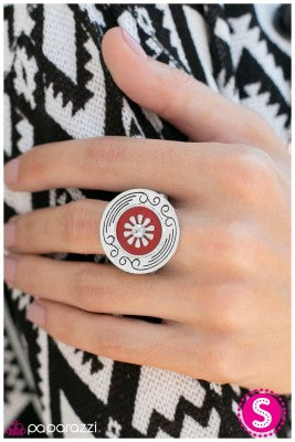 Happy Hour - Red - Paparazzi ring