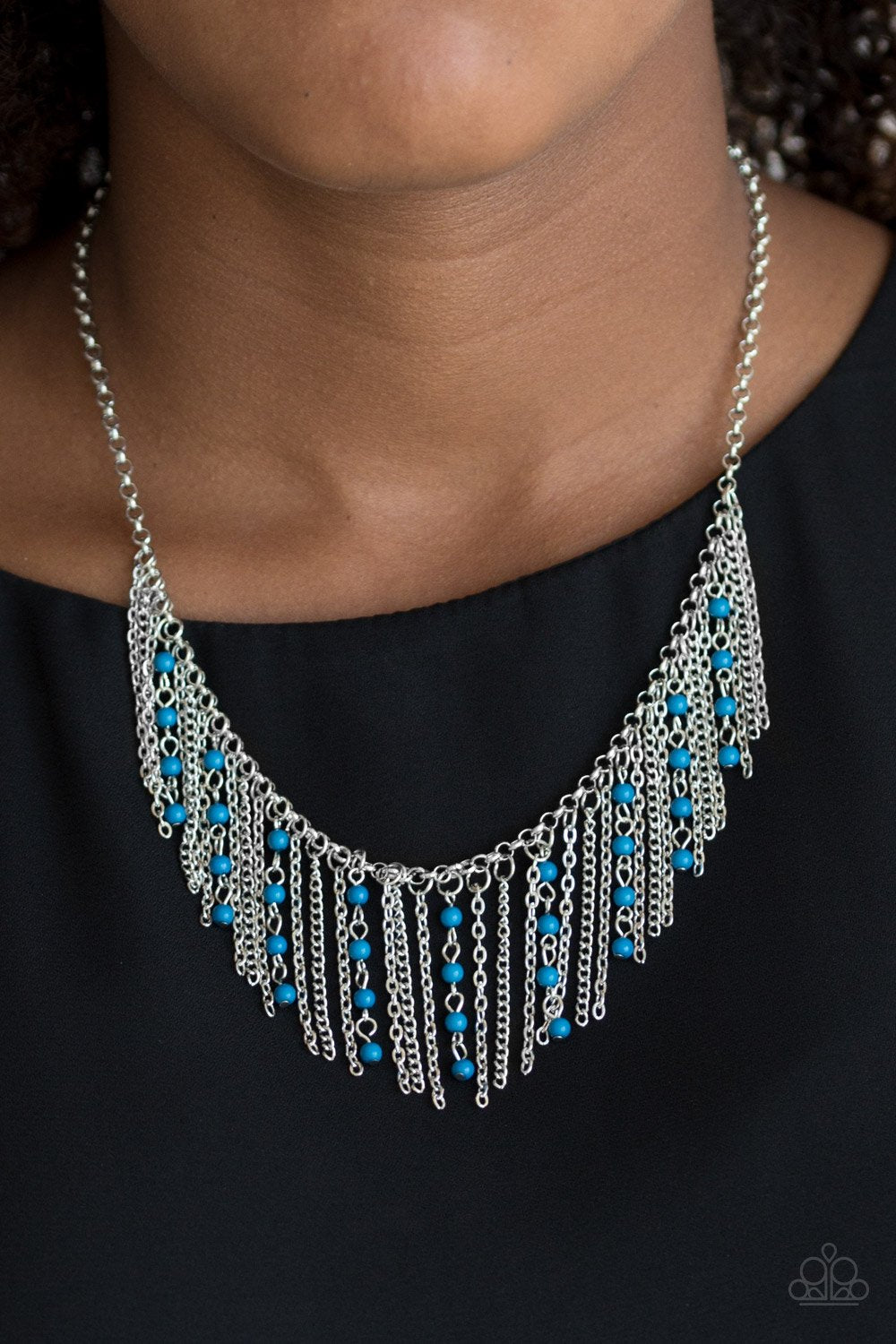 Harlem Hideaway - blue - Paparazzi necklace