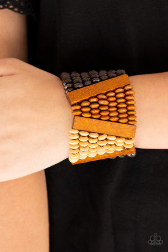 Haute in Hispaniola - brown - Paparazzi bracelet
