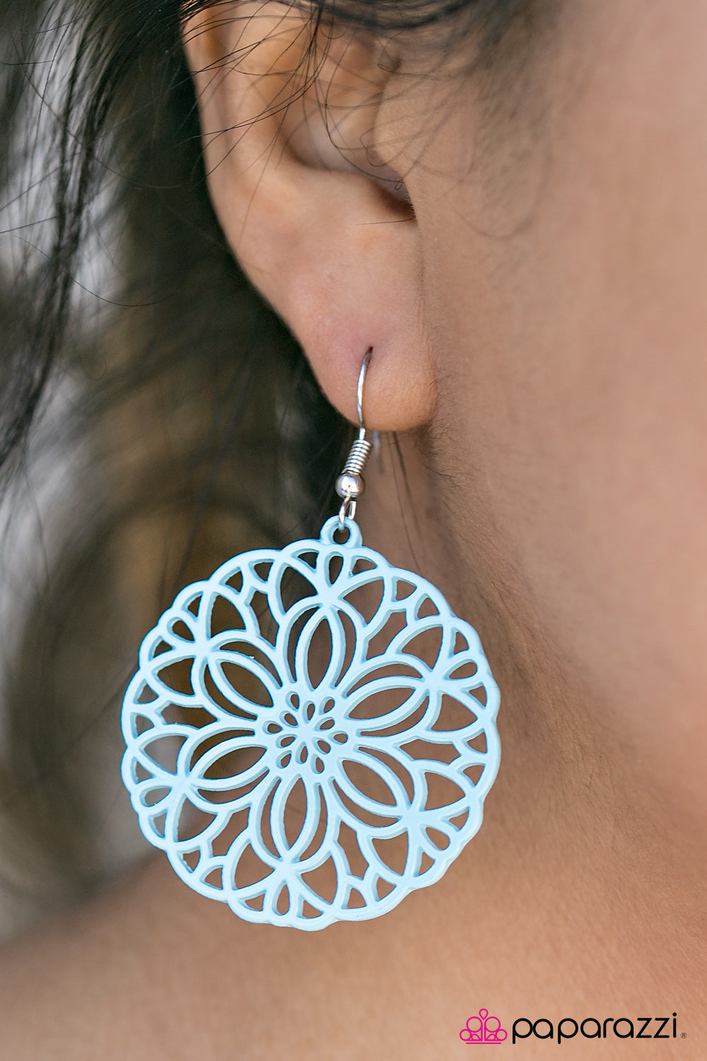 Having A Merry Time - Blue - Paparazzi earrings