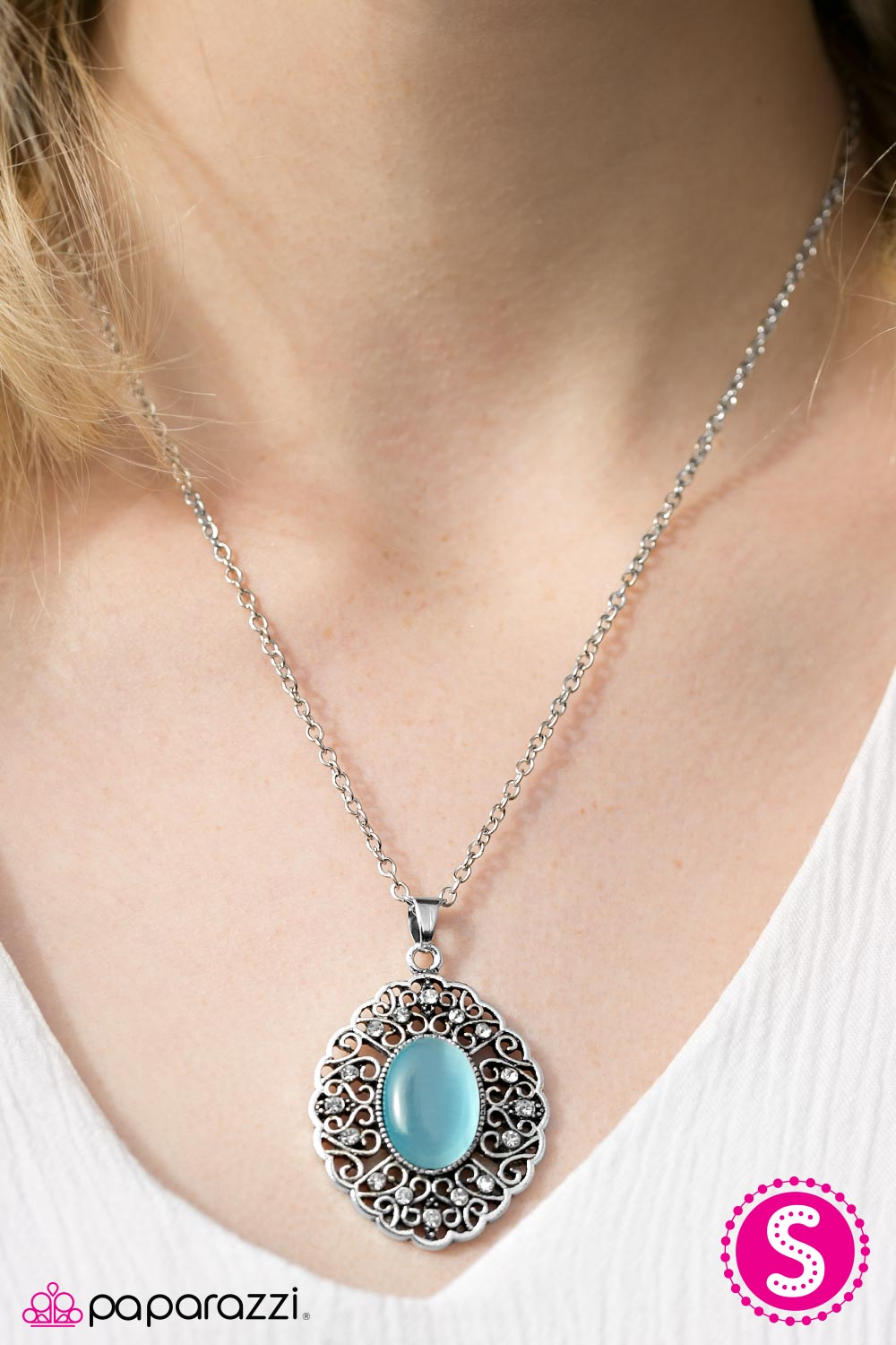 Heart Of Glace - Blue - Paparazzi necklace