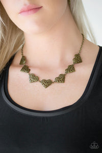 Heart Haven - brass - Paparazzi necklace