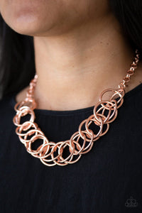 Heavy Metal Hero - copper - Paparazzi necklace