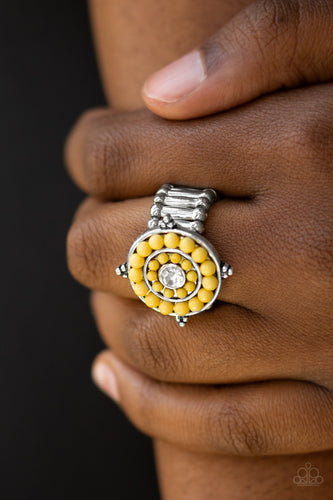 High Tide Pool Party - yellow - Paparazzi ring