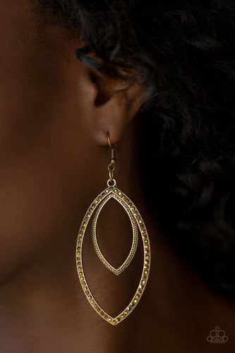High Maintenance - brass - Paparazzi earrings