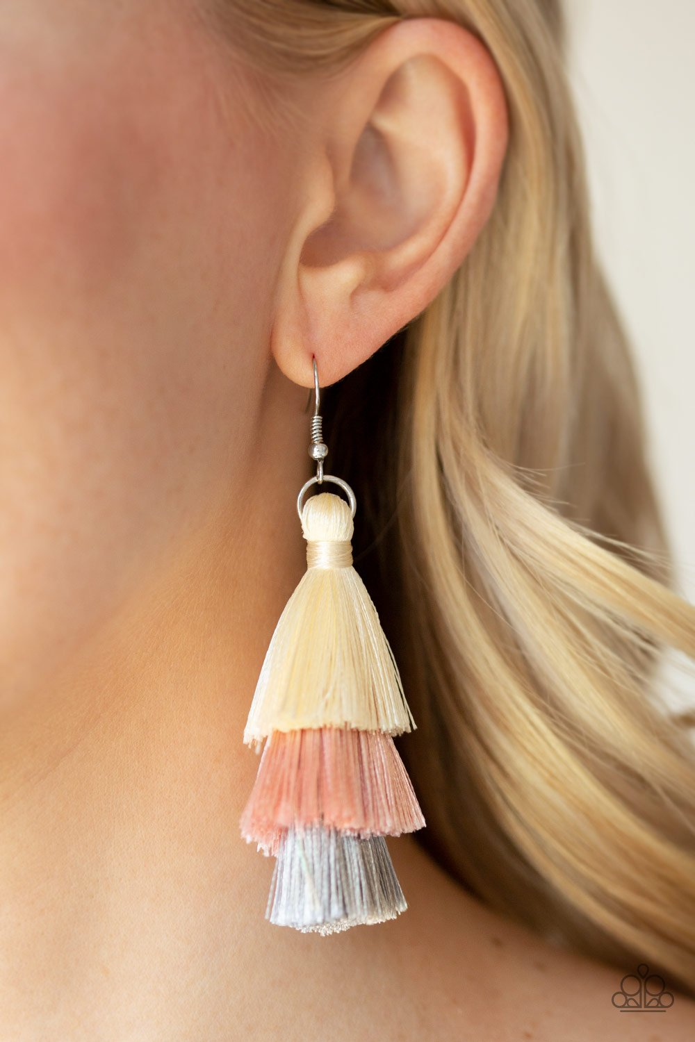 Hold On To Your Tassel-pink-Paparazzi earrings