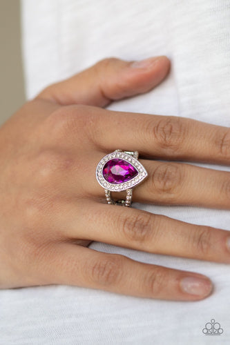 Hollywood Heirloom-pink-Paparazzi ring