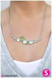 Honorable Mention - Green - Paparazzi necklace