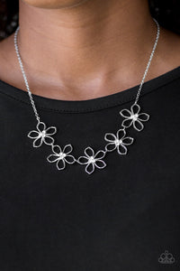 Hoppin Hibiscus - white - Paparazzi necklace