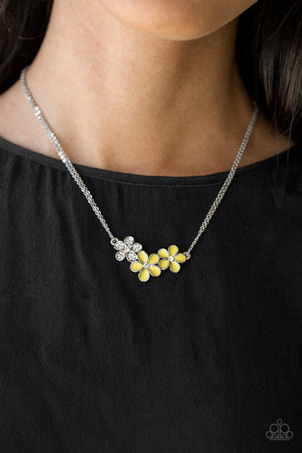 Hibiscus Haciendas - yellow - Paparazzi necklace