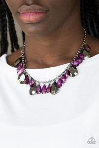 Hurricane Season - purple - Paparazzi necklace