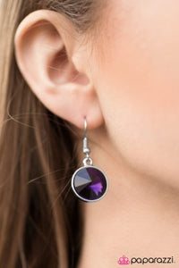 I Want To Be A Millionaire - Purple - Paparazzi earrings