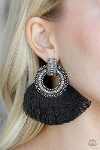 I Am Spartacus-black-Paparazzi earrings