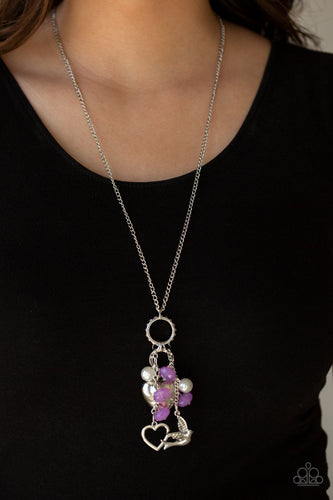 I Will Fly-purple-Paparazzi necklace