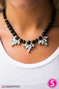 Ice Crystals - black - Paparazzi necklace
