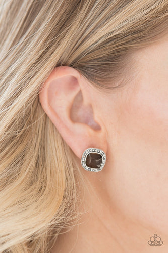 Ice Palace - brown - Paparazzi earrings