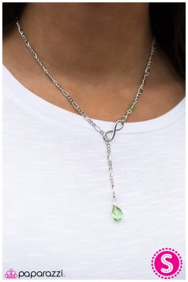 If Tomorrow Never Comes - Green - Paparazzi necklace