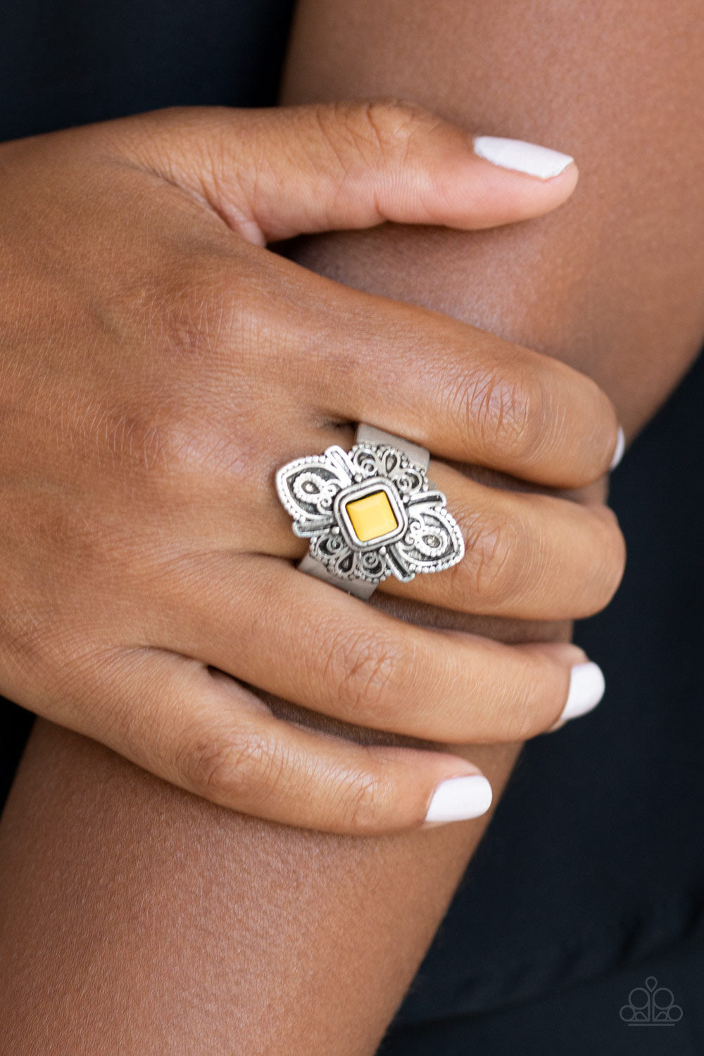 Impressive TREK Record - yellow - Paparazzi ring