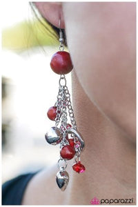 In the Still Of the Night - Red - Paparazzi earrings