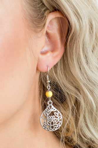 In Bloom - yellow - Paparazzi earrings