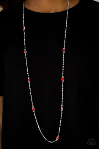 In Season - red - Paparazzi necklace