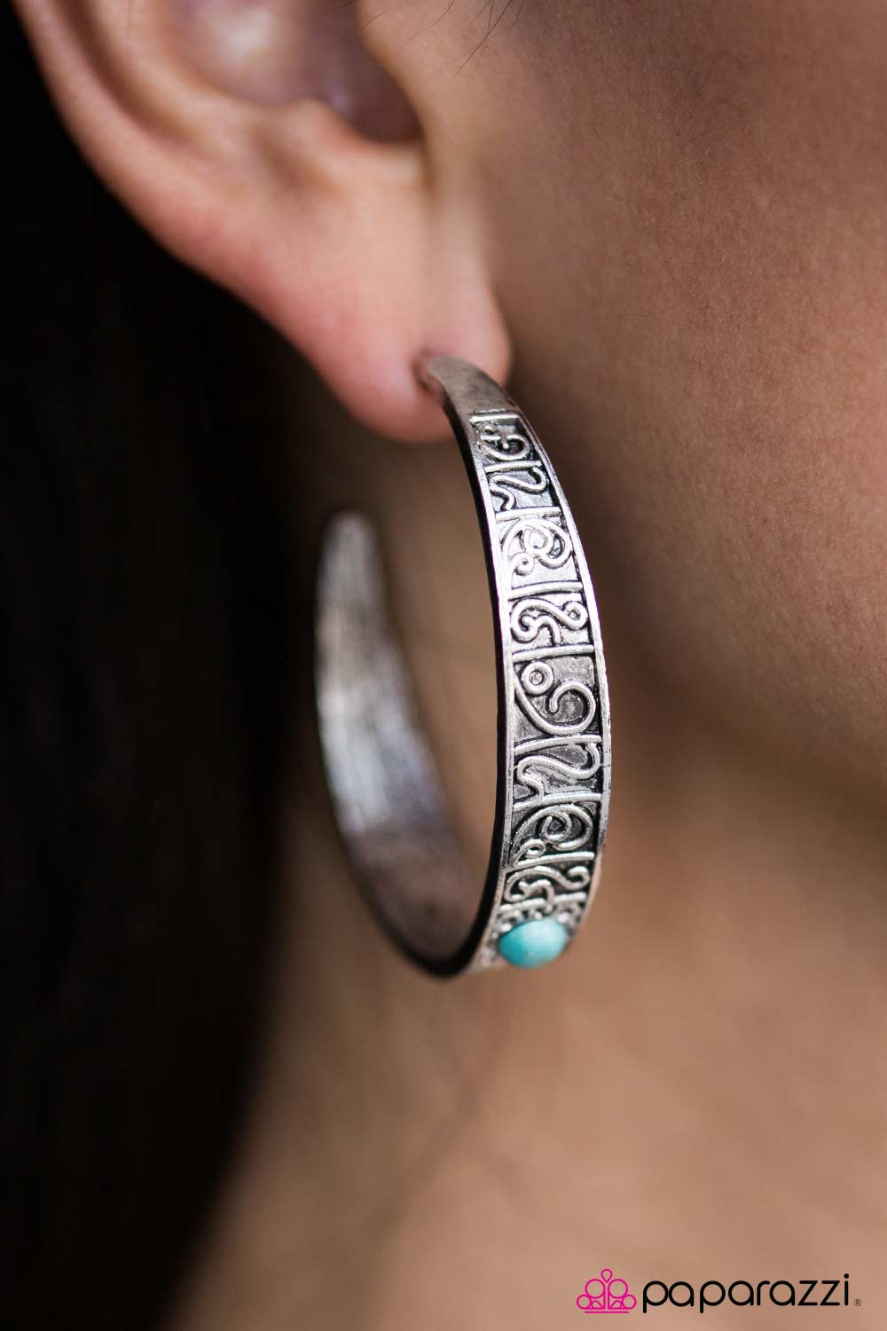 Incan Ruins - Blue - Paparazzi earrings