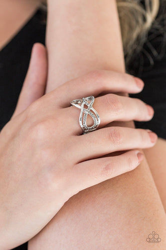 Infinite Illumination-silver-Paparazzi ring
