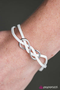 Infinity and Beyond - White - Paparazzi bracelet