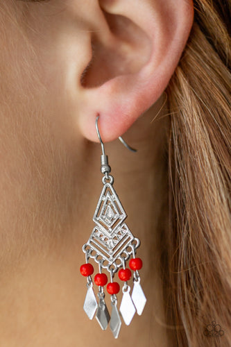 Island Import - red - Paparazzi earrings