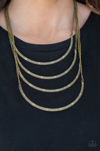 It Will Be Over Moon-brass-Paparazzi necklace