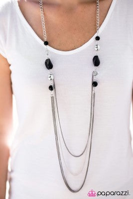 Its My Party - black - Paparazzi necklace