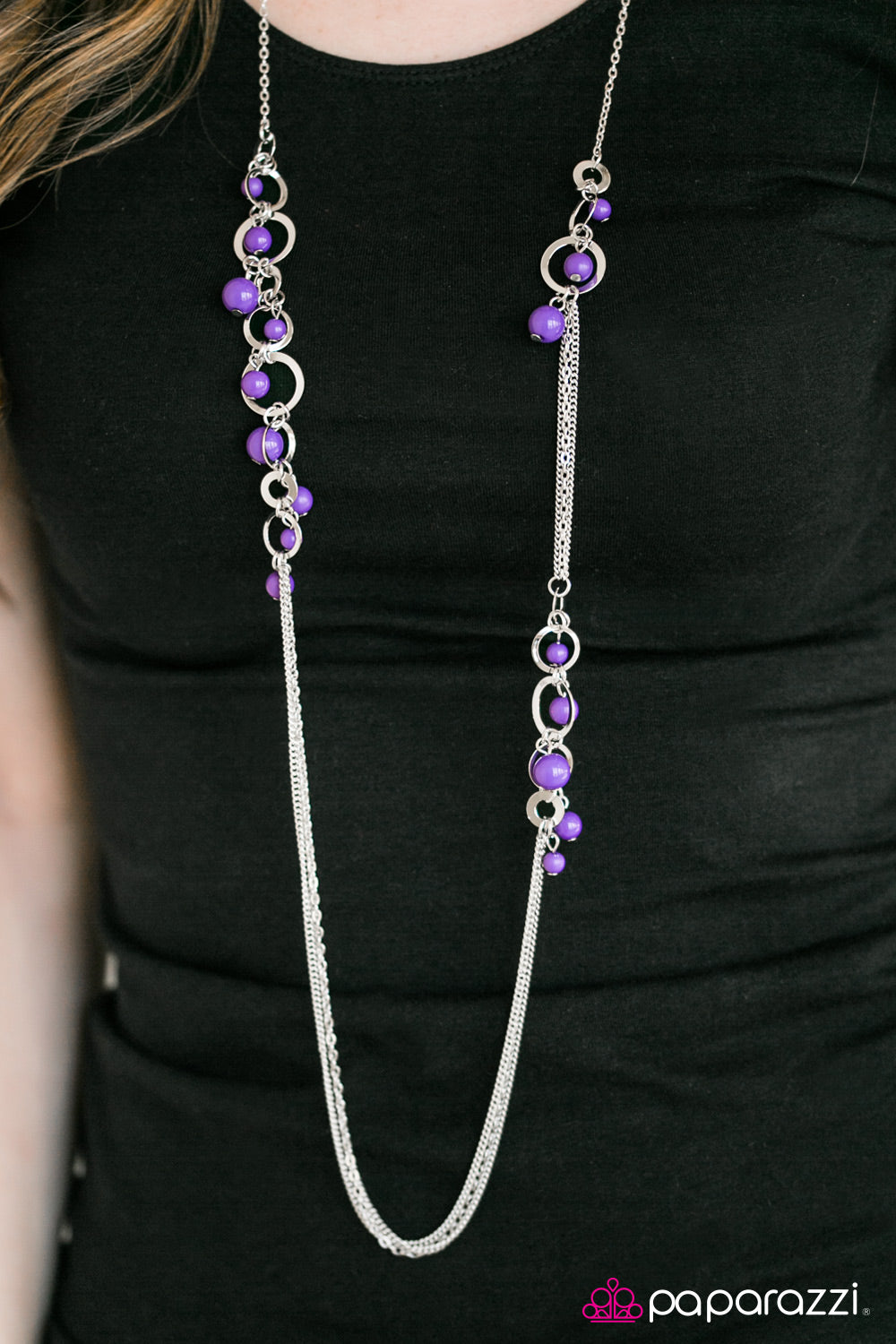 Its Summer Somewhere - Purple - Paparazzi necklace