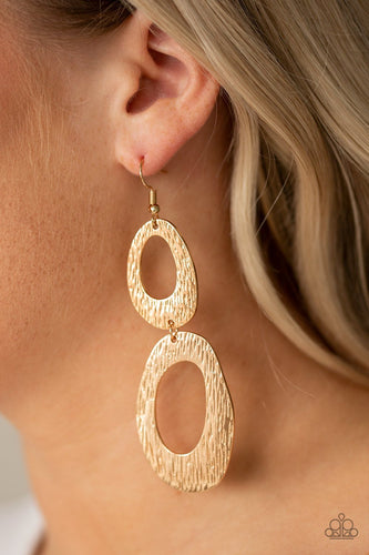 I've SHEEN It All-gold-Paparazzi earrings