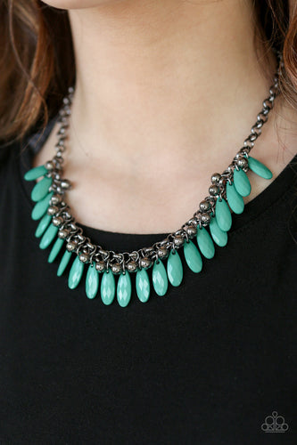Jersey Shore - green - Paparazzi necklace