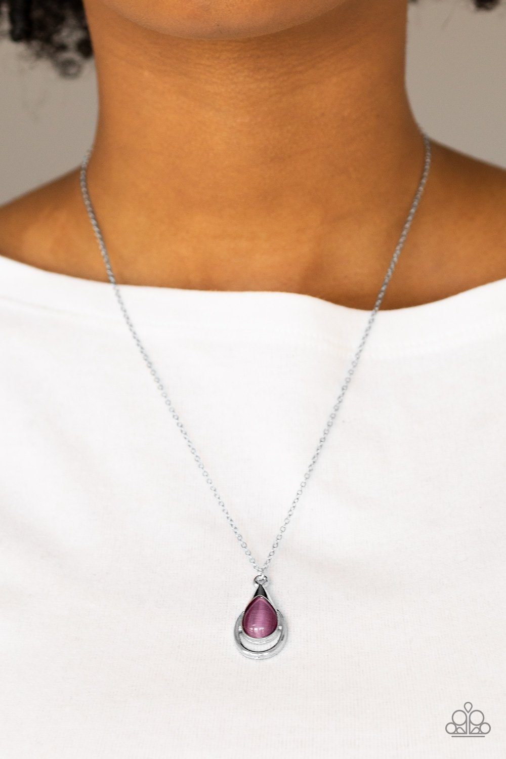 Just Drop It - purple - Paparazzi necklace