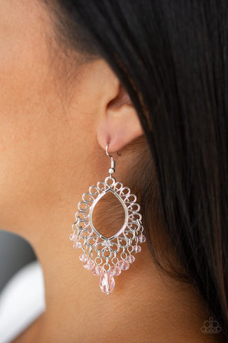 Just Say NOIR - pink - Paparazzi earrings