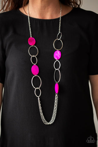 Kaleidoscope Coasts-pink-Paparazzi necklace