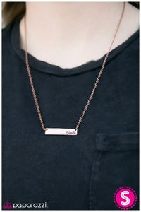 Keep Smiling - Copper - Paparazzi necklace
