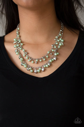 Kindhearted Heart-green-Paparazzi necklace