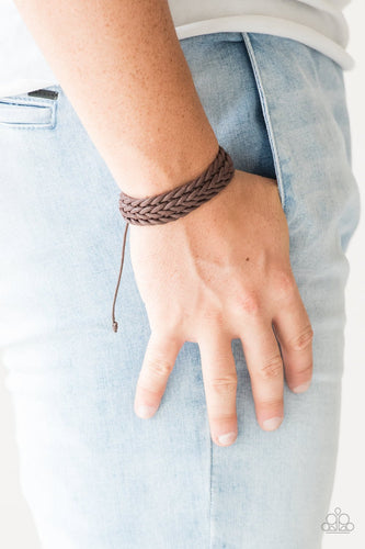Knot the End of the World - brown - Paparazzi bracelet
