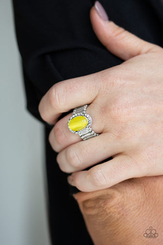 Laguna Luxury-yellow-Paparazzi ring