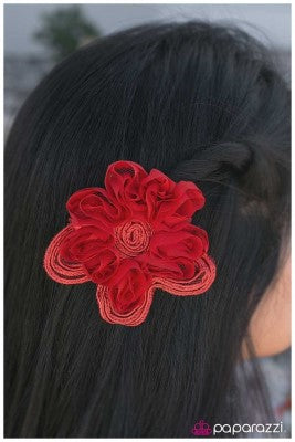 Spin Me Around - Red Paparazzi Hair Clip