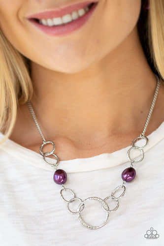 Lead Role - purple - Paparazzi necklace