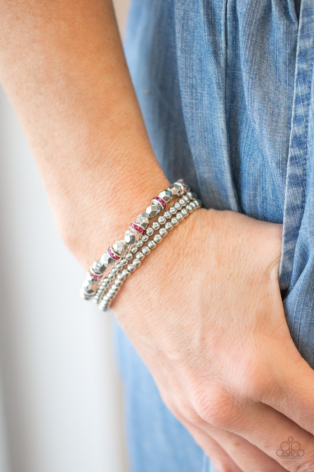 Let There Beam Light - pink - Paparazzi bracelet