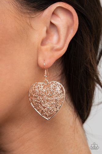 Let Your Heart Grow - rose gold - Paparazzi earrings