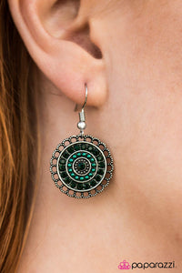 Lights Of Paris - Green - Paparazzi earrings