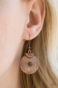 Lily of the Nile - copper - Paparazzi earrings