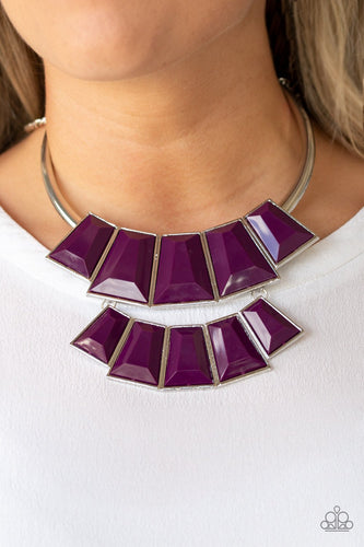 Lions, TIGRESS, and Bears-purple-Paparazzi necklace